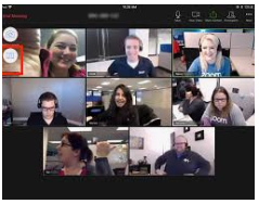 What an 8-person Zoom video meeting looks like