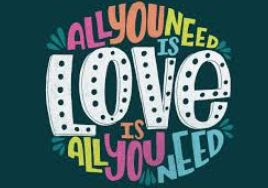"""All you need is love"" graphic promoting the Holy Trinity Episcopal Church Beatles Eucharist on Sunday, August 16, 2020 in Wyoming, Michigan"